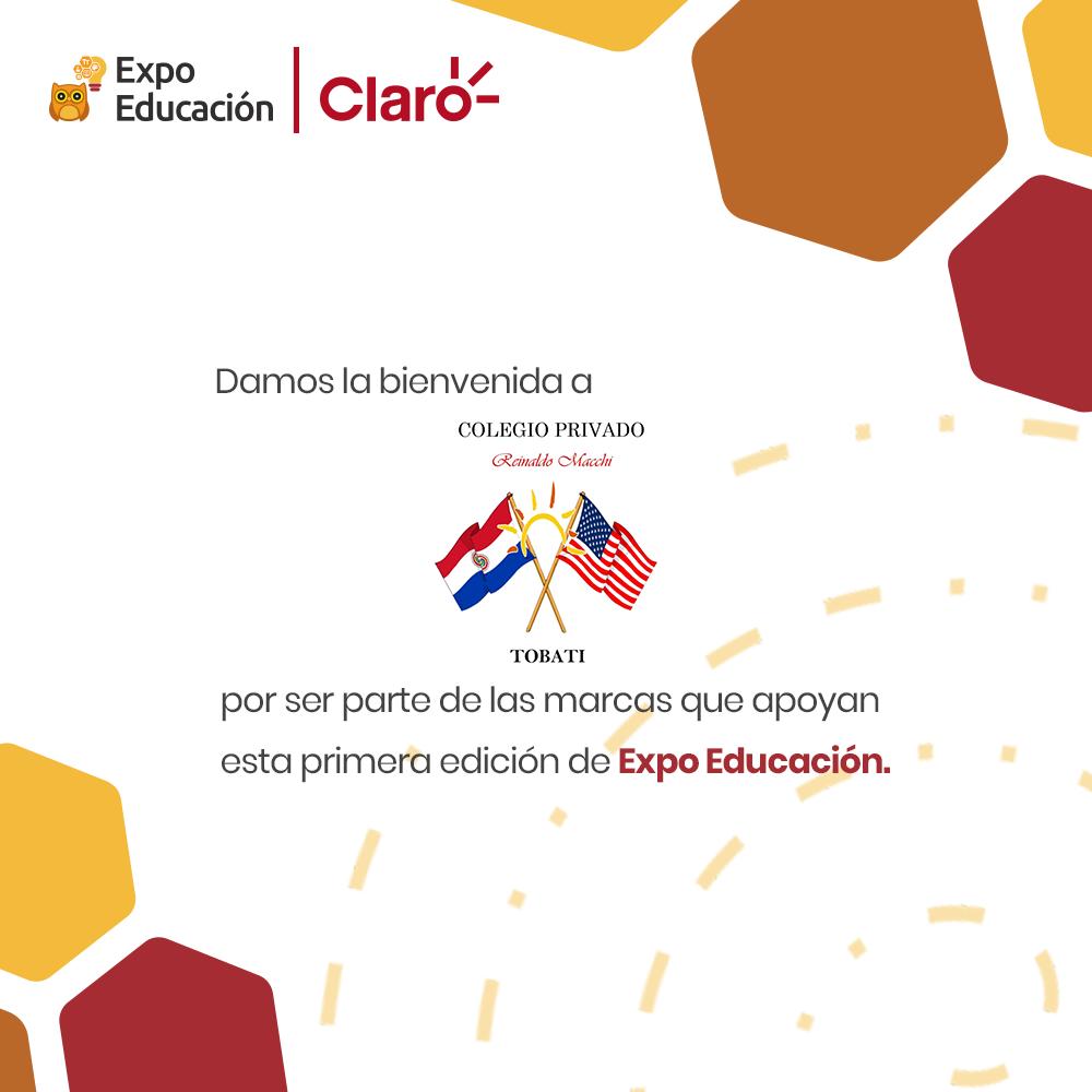 Bienvenido Colegio Privado Reinaldo Macchi a la Expo Educación   Claro – STEAM
