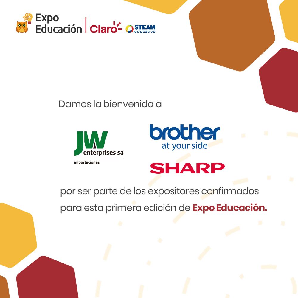 Bienvenido JW ENTERPRISES S.A. en compañía de SHARP y BROTHER a la Expo Educación Claro - STEAM